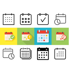 meeting deadlines icon set vector image