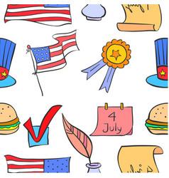 Memorial day doodles vector