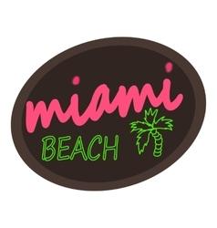 Miami beach logo cartoon style vector image