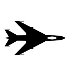 New flying jet fighter simple icon vector image
