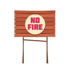 no fire sign board vector image