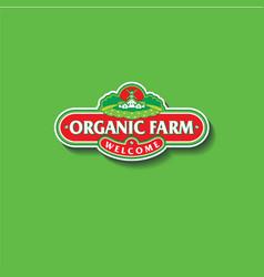 organic farm logo vector image