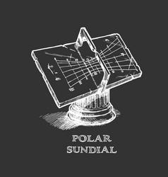 polar sundial vector image