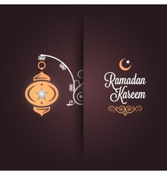 Ramadan kareem greeting card design background vector
