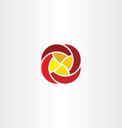 red yellow flower business tech logo icon sign vector image