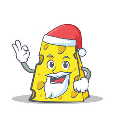 Santa cheese character cartoon style vector