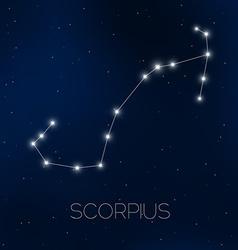 Scorpius constellation vector image