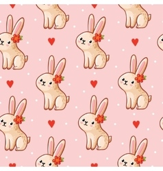 Seamless pattern with cute vector