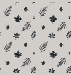 seamless pattern with hand drawn stylized fern vector image
