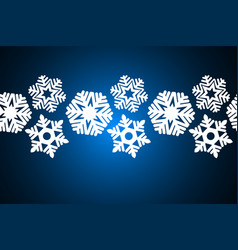seamless snowflakes on a blue background vector image