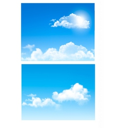 set of nature backgrounds with cloud and sky vector image