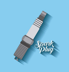 Spark plug spare part automotive industry vector