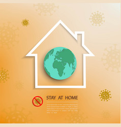 Stay at home during outbreak covid-19 concept vector