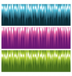 striped banners vector image