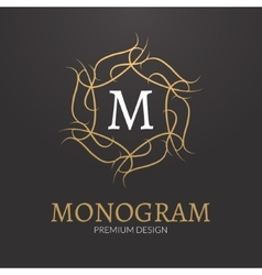 Stylish elegant monogram design logo vector image