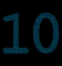 ten digits text mosaic icon of halftone spheres vector image