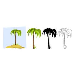 Tropical palm trees of a palm tree vector