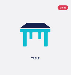 two color table icon from furniture concept vector image