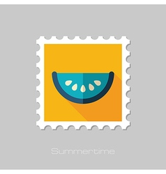 Watermelon Slice flat stamp Summer Vacation vector