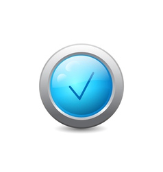 Web button with check mark vector image