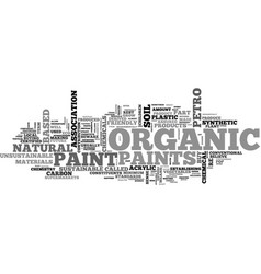 What is organic paint text word cloud concept vector