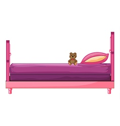 A pink bed vector image vector image