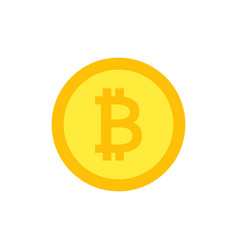 bitcoin icon crypto currency flat vector image vector image