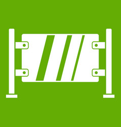 glass gate icon green vector image