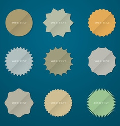 Round stickers vector image vector image