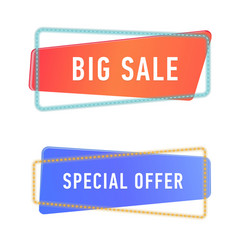 sale banners template set of promotion and vector image vector image