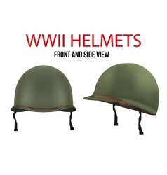 Side view of Military US helmet M1 WWII vector image vector image