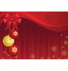 Christmas decor vector image