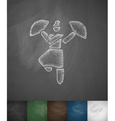 Dance icon hand drawn vector