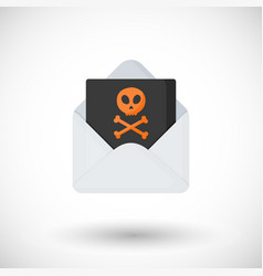 Hacking sign flat icon vector