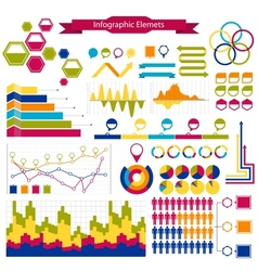 infographics collection graphshistogramsarrows vector image
