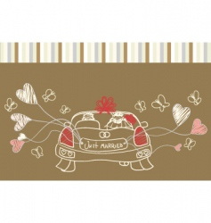 just married auto vector image vector image