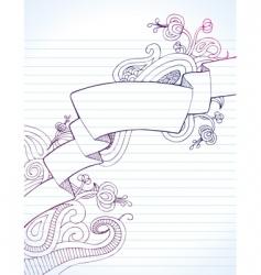 notebook banner vector image