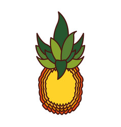 Pineapple exotic fruit icon vector