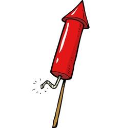 red rocket fireworks vector image vector image