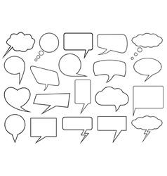 Set of different speech bubbles vector image