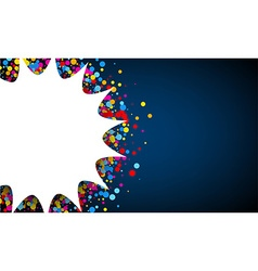 Blue background with confetti vector image