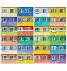 colored apartments in winter vector image vector image