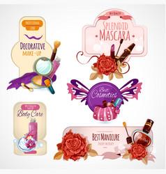 Cosmetics Label Set vector image vector image