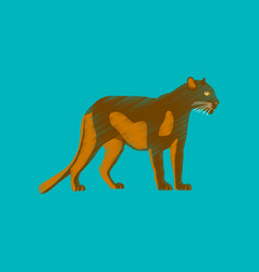 flat shading style icon panther vector image vector image