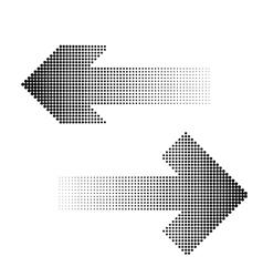 halftone arrow icon vector image