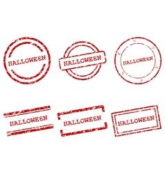 Halloween stamps vector image