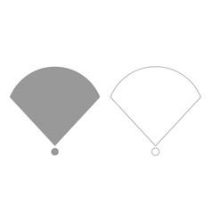 location or radar grey set icon vector image
