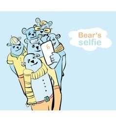 many bears do self photo vector image vector image