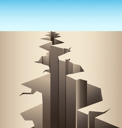 Crack in the ground vector image