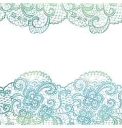 Lacy elegant border Invitation card vector image